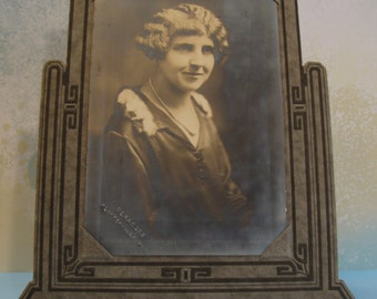 Antique Photograph in Art Deco Frame