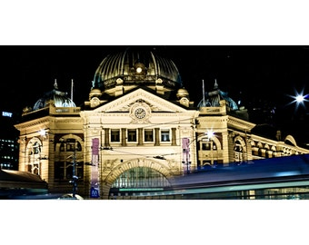 Flinders St City Panorama  - Canvas/Decal/Vinyl/Poster