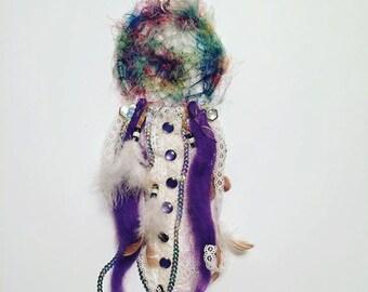 Colorful texture fiber dreamcatcher