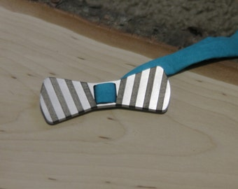 Wood and Aluminum Bow Tie