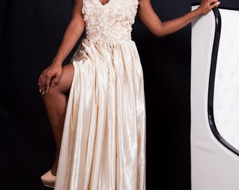 Satin Maxi Long Dress