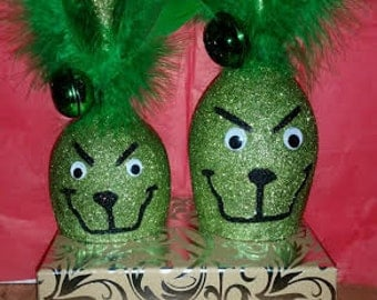 Grinch Candle Holder