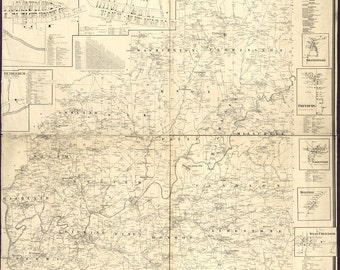 1865 Map of Clarion County PA Oil Wells Genealogy