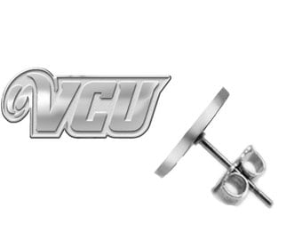 Virginia Commonwealth VCU Rams Logo Earrings - Available in Three Styles - See Pictures and Choose Size