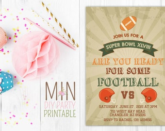 Super Bowl Party Invitation 6,Super Bowl Party Invitation, Super Bowl Invitation, Football Party, Super Bowl Party, Superbowl Invitation