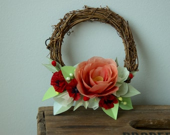 Paper Festive Holiday Christmas Wreath Decoration