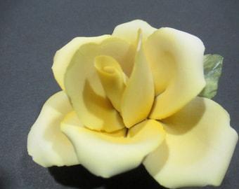 E&R GOLDEN CROWN Porcelain Yellow Rose