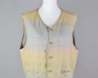 Linen Waistcoat  |  Natural Linen Waistcoat  |  Women's Waistcoat  |  Hand-Dyed Waistcoat  |  Women's Vest | Women's Sweater Vest