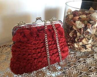 Red purse clutch