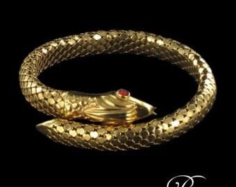 Gold snake bracelet
