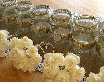 Ivory Little Wedding bouquet, Crepe Paper Flowers, Centerpice, IVORY Roses, WEDDING Bouquet, bride, bridesmaids