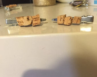 Wine Cork Hair Clips - Set of Two
