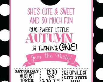 Minnie Mouse Themed Birthday Invitation