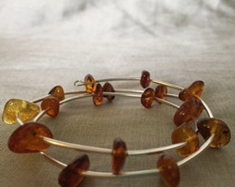 Baltic Amber bracelet on spring