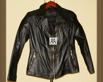 Nakita: Light weight, Full grain Calf Skin Leather Jacket for Women