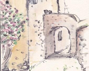 Gerace original watercolor sketch