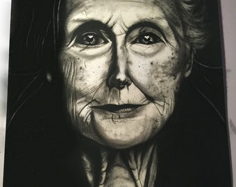 """charcoal drawing titled """"Dreams fulfilled"""""""