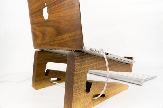 Portable Wood Laptop Stand   Wooden Laptop Riser   MacBook Stand. Portable Wood Laptop Stand Wooden Laptop Riser MacBook