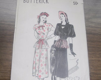 1940's Butterick Vintage Sewing Pattern 4203
