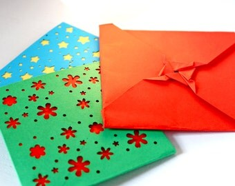 Square origami envelope/Origami envelope