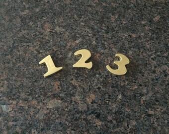 Gold Number Magnet Set