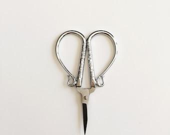 Silver Embroidery Scissors/Cross Stitch Scissors/Sewing Scissors/Decorative Scissors/Small Scissors/Engraved Scissors