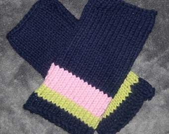 Knitted Striped Wristies