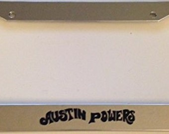 Austin Powers Shaggy Shagalicious - Chrome  License Plate Frame - Custom