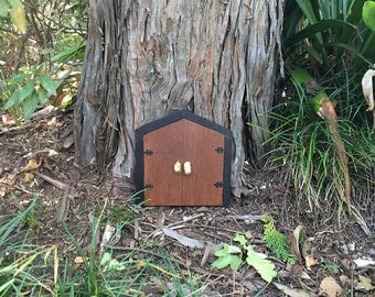 Large Fairy Door - Double Fairy Door - Outdoor Fairy Door - Fairy Door For Tree - Woodland Fairy Garden - Fairy Photo Prop - Fairy Tree Door