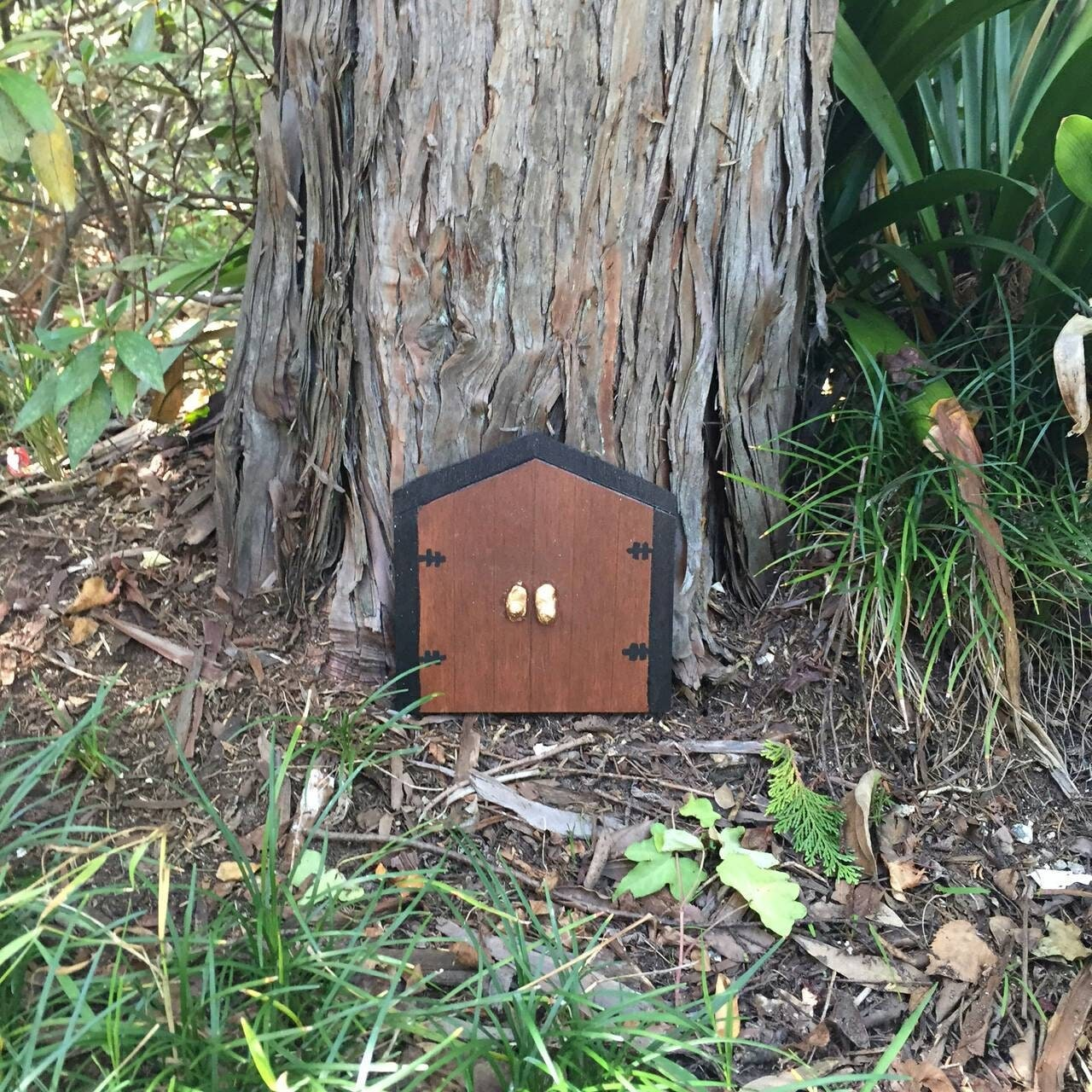 Large fairy door double fairy door outdoor fairy door for Large gnome doors