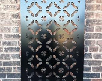 Privacy Screen Outdoor Metal Garden Fence Decor Art - East 1