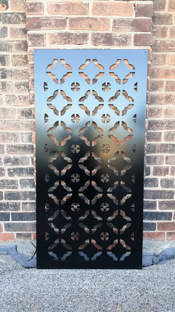 Metal Architectural Screen Wall : Privacy screen outdoor metal garden fence decor by