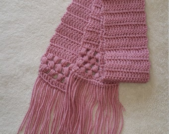 Crocheted rose scarf