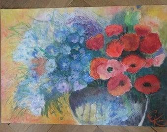 FLOWERS Watercolor painting