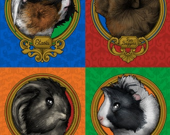 Guinea pig and other animals portraits