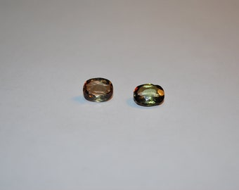 6.0 x 8.8 (1.83ct) Green Cushion Cut Andalusite Stone
