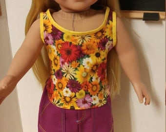 Spring flower top and shorts