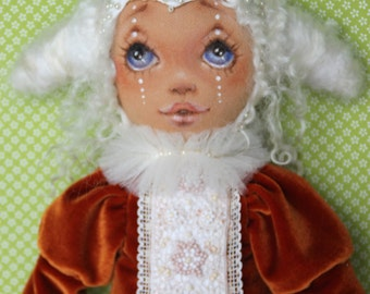 "Doll, art doll ""Bethany"", 18 zoll/41 cm, hand-made"