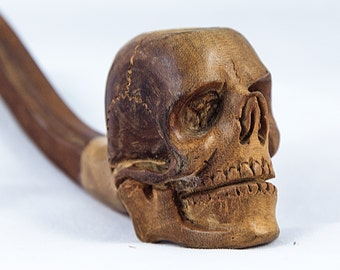 Wooden Skull Pipe, Tobacco Pipe, Smoking Pipes, Wood Pipes