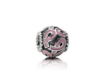 Pandora Bead/Charm-Authentic 790755EN24 Pink Ribbon Breast Cancer Awearness