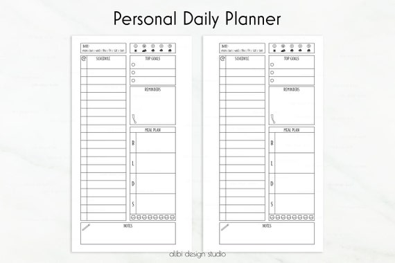personal to do list template