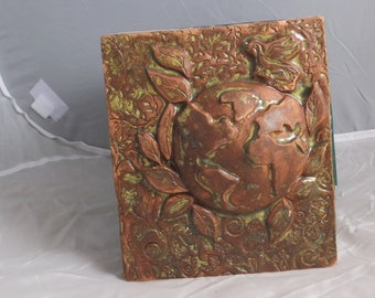 Forest Colored Ceramic Earth Tile