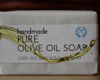 Pure Classic Extra Virgin Olive Oil Handmade Soap 2 oz Bar