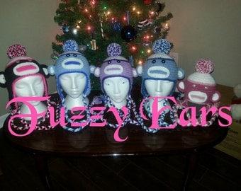 Crochet Sock Monkey hats!