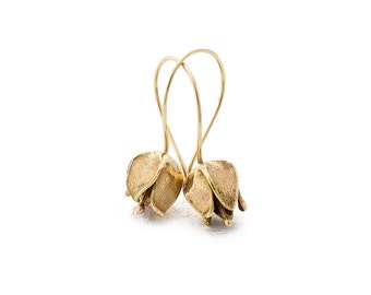 14K Gold Bella Flower Earrings