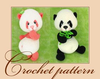 Panda Amigurumi Crochet Pattern PDF file by Anna Sadovskaya