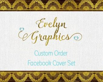 Custom Facebook Cover Set,Facebook Banner,Social Media Banner,Facebook Timeline Cover and Profile Picture,Social Media Header,FB page design