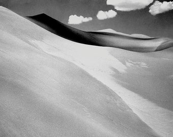 SAND DUNES, black white photography,minimalist photography, nature photography, landscape,sand dunes,sunlight,shadows,clouds, GeddieGallery