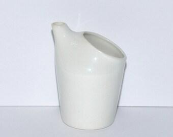 White Porcelain Simplex Feeding Cup No. 10 W.T. Co.