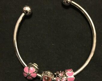 European Charm cuff bracelet